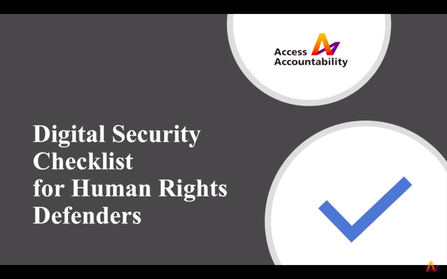 Digital Security Checklist for Human Rights Defenders