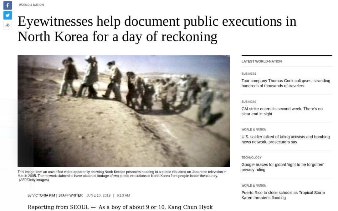Eyewitnesses help document public executions in North Korea for a day of reckoning