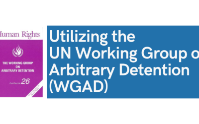 Utilizing the UN Working Group on Arbitrary Detention (WGAD)