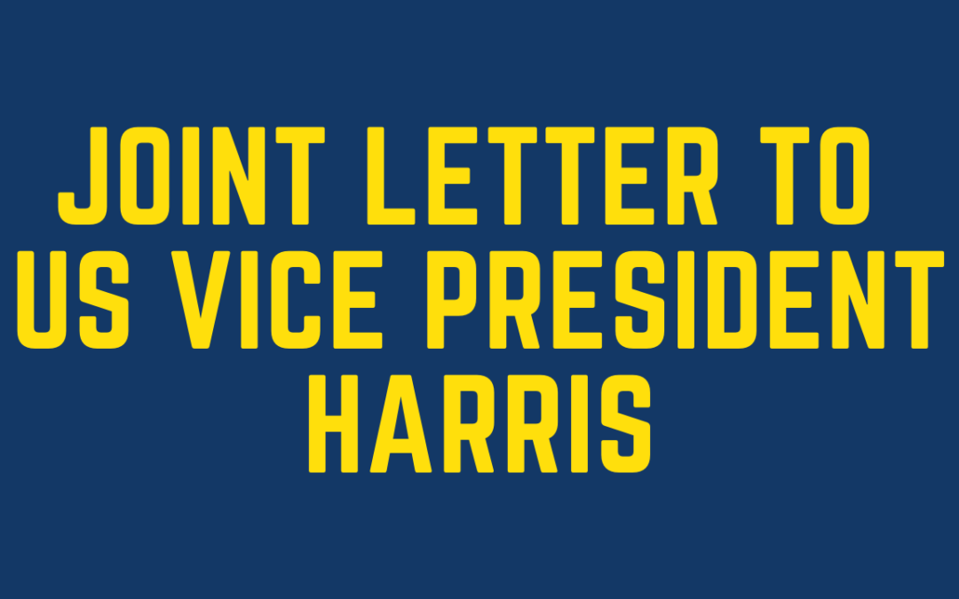 Joint Letter to US Vice President Harris